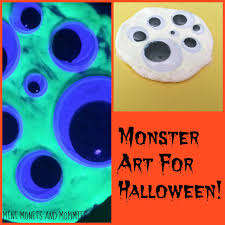 mini monets and mommies glow in the dark paint halloween ghosts