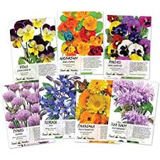 seed packets collection of 7 edible wildflower seed packets 7