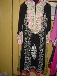 pakistani casual dress black white designer wear latest