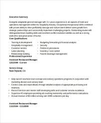 Restaurant Assistant Manager Resume Professional Manager Resume 49 Free Word Pdf Documents