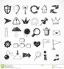 sketch of web design icons stock vector image of draw 58758138