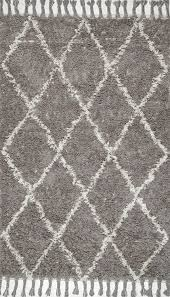 plaid area rugs amazon com nuloom grey hand knotted fez shag area rug 6 u0027 x 9