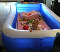 Baby Blow Up Bathtub Use An Inflatable Pool As A Playpen For Your Toddler Do It