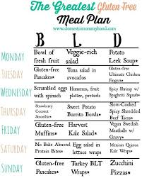 printable weight loss diet chart gluten free meal plan and shopping list free printables for gluten