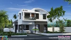 sq m curved roof mix house plan kerala home design and floor plans