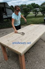 Furniture Farmhouse Outdoor Furniture Style With Lowes Picnic by Remodelaholic Build A Farmhouse Table For Under 100