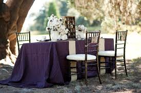 eggplant colored table linens purple rustic chic inspiration shoot every last detail