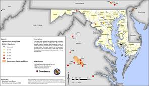 me a map of maryland the great southeast shakeout maryland