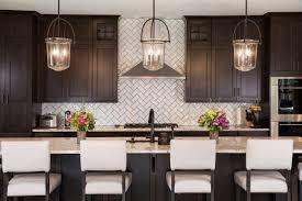 black kitchen cabinets with white subway tile backsplash 75 beautiful kitchen with wood cabinets and subway tile