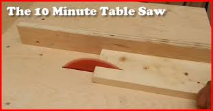 Build Your Own Kitchen Table by The 10 Minute Diy Table Saw Build Gotta Go Do It Yourself