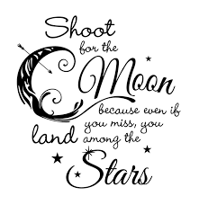 decals shoot for the moon and land among the wall decal