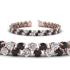 black diamond gold bracelet images 5 30 carat tennis bracelet women with black diamond in 14k rose jpg