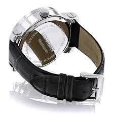 World Map Watch Luxurman Watches World Map Mens Vs Diamond Watch 18ct Item Code