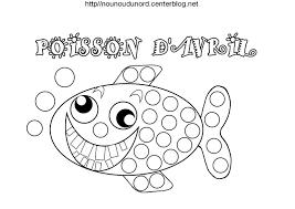 coloriage poisson avril