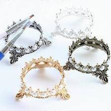 aliexpress buy new arrival 10pcs silver gold online shop new arrival 10 pcs gold silver crown inlaid