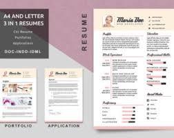 resume portfolio template resume portfolio etsy