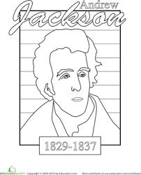 color a u s president andrew jackson andrew jackson