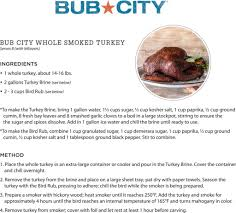 turkey brine container recipe bub city whole smoked turkey lettuce entertain you