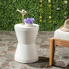ivory accent table safavieh torre concrete indoor outdoor accent table ivory free