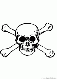 Coloriage Tête de mort à imprimer dans les coloriages Pirate et