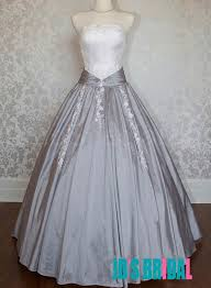 white and grey wedding dress jol225 retro vintage inspired white and gray gown wedding dress