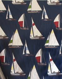 Upholstery Fabric Maryland A Summer Home Nautical Sailboat Upholstery Fabric Embroidery