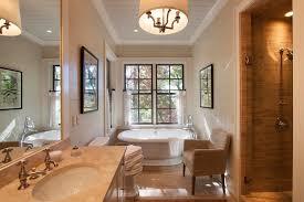 Craftsman Bathroom Vanities Southern Yellow Pine Bathroom Rustic With Natural Stone Tile