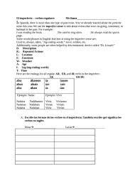 el imperfecto spanish imperfect tense practice worksheet packet