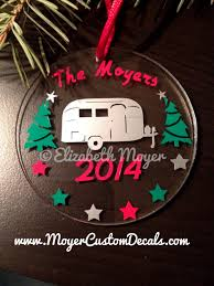 custom personalized airstream ornament vintage silver
