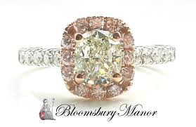 engagement rings pink images 1 7ct natural green diamond engagement ring with natural pink jpg