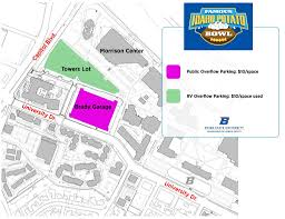 Boise State Campus Map Game Day U2013 Famous Idaho Potato Bowl