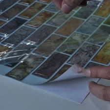 kitchen backsplash stick on tiles adhesive backsplash artd peel and stick kitchen backsplash tile