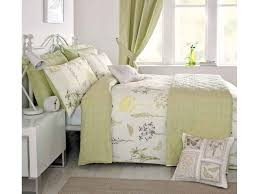 n drapes botanique green duvet cover sets