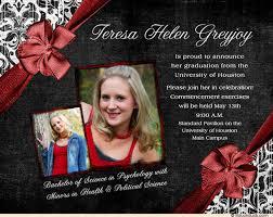 formal graduation invitation design photos class year
