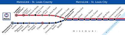 stl metro map neighborhoods and homes near metrolink in st louis county