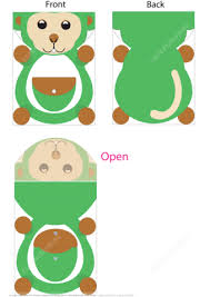 diy folder template with a monkey free printable papercraft