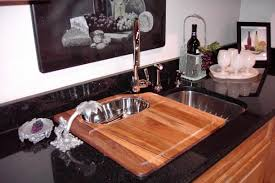 kitchen sinks vessel sink with cutting board single bowl