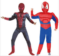 Youth Boy Halloween Costumes Aliexpress Buy 2016 Muscle Spiderman Costume Children