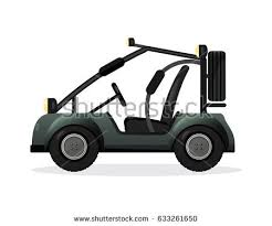 buggy design road buggy car set isolated stock vector 590202806