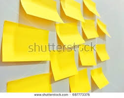 stick paper yellow paper note stick on wall stock photo 697773376 shutterstock