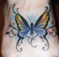 celtic butterfly tattoos with colorful ink tattoomagz