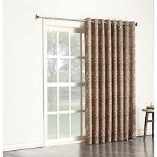 Lattice Design Curtains 1pc 84 Beige Color Geometric Sliding Door Curtain