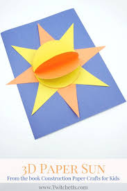 this fun 3d sun construction paper craft is perfect for little