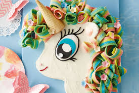 sally the rainbow unicorn cake