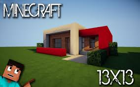Modern House Minecraft Minecraft House Tutorial 13x13 Modern House Youtube
