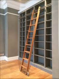 Leaning Ladder Bookcases by Furniture Sliding Ladder Bookcase Sliding Ladders For Bookcases