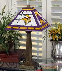 minnesota vikings home decor minnesota vikings stained glass mission style table lamp sports