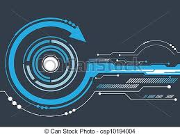 hi tech abstract hitech background vector clipart search illustration