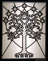 faux stained glass tree of gondor weasyl