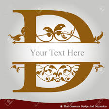 vector of letter d in the old vintage style abc concept type